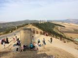 <p>Oppe på toppen. 790 m. Alto de Perdon</p>