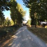 <p>På vej ind i San Nicolas del Real Camino</p>