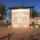 <p>På vej ind i Villar de Mazarife</p>