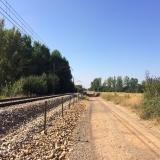 <p>Lidt af turen var langs en jernbane</p>