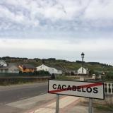 <p>Ude a Cacabelos med vinmarker i baggrunden</p>