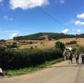 <p>På det sidste stykke ligner landskabet Toscana</p>