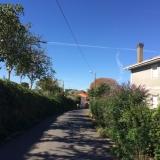 <p>På vej ind i Boente</p>