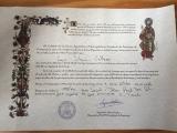 <p>Mit bevis for gennemførelse af Caminoen </p>