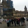 <p>Gruppen foran katedralen</p>