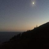 <p>Månen på vej retur til herberget</p>