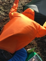 <p>Drying my rain jacket in the wind																																		</p>