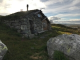 <p>																																		A Norwegian mountain hut</p>