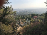 <p>																																		The view over Nice. Down again on Chemin de Chateaurenard</p>