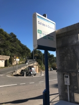 <h5>1</h5><p>The bus stop at Col des quatre Chemines. 																Bus 84 take you there.																	</p>